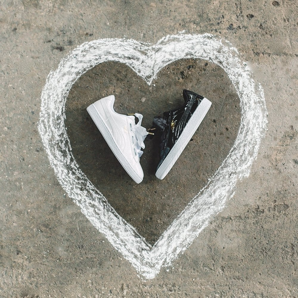 puma basket heart footasylum