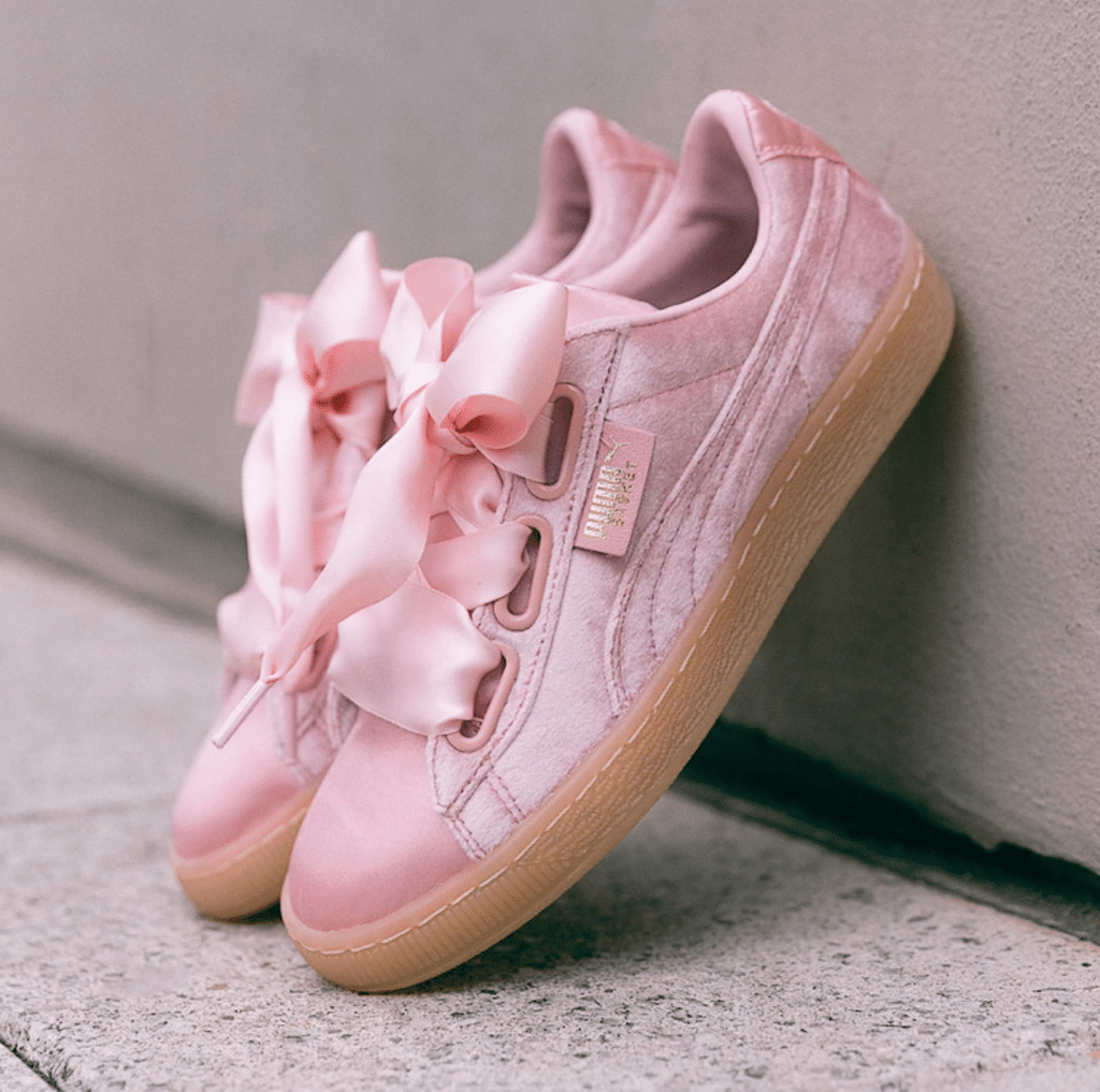 new products 36e74 dc3c1 BIY Roamer | Puma W Basket Heart Pink Velvet $413 @ Asos