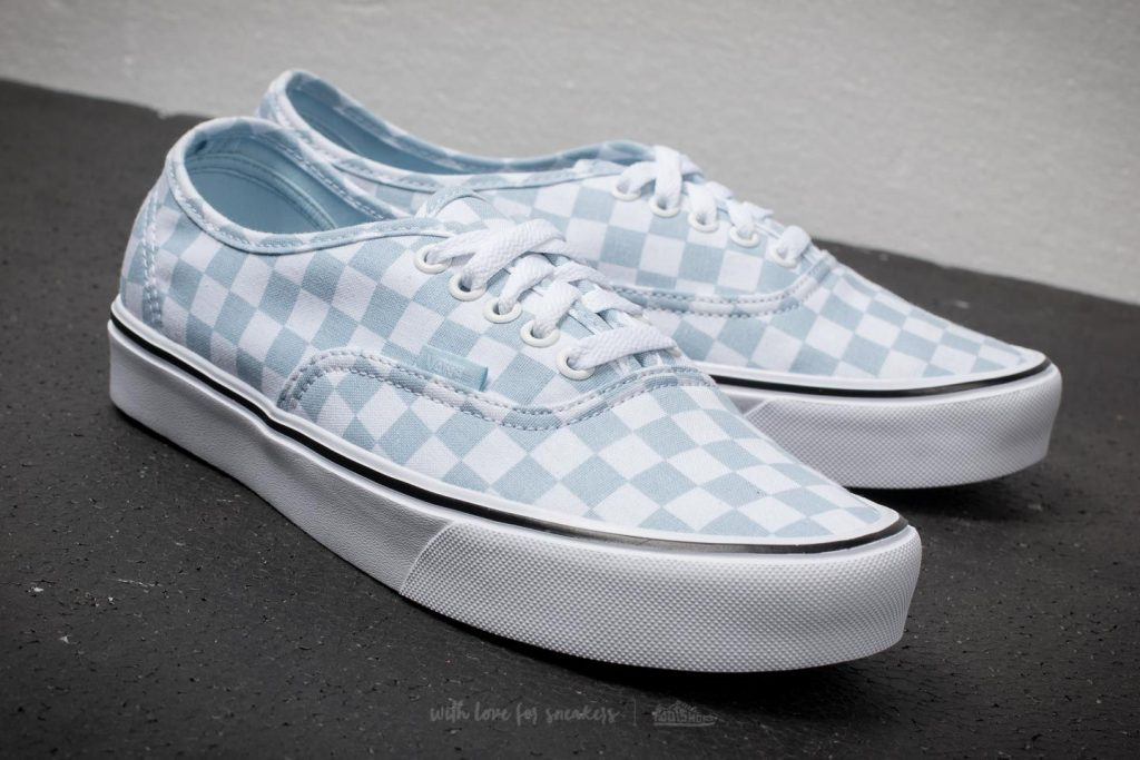vans checkered baby blue